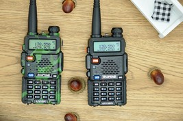 Baofeng uv-5r cb comouflage radio transciver 5w handheld hunting walkie talkie image 4