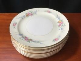 "10 Georgian Eggshell Cashmere Salad Plates 7"" Homer Laughlin - $34.65"