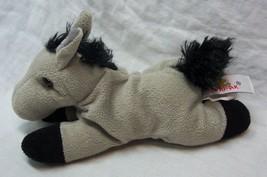 "Unipak SOFT GRAY & BLACK HORSE PONY 7"" Plush STUFFED ANIMAL Toy - $14.85"