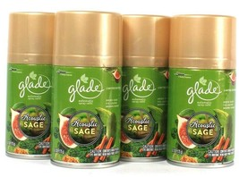 4 Glade 6.2 Oz Limited Edition Acoustic Sage Long Lasting Automatic Spra... - $41.99
