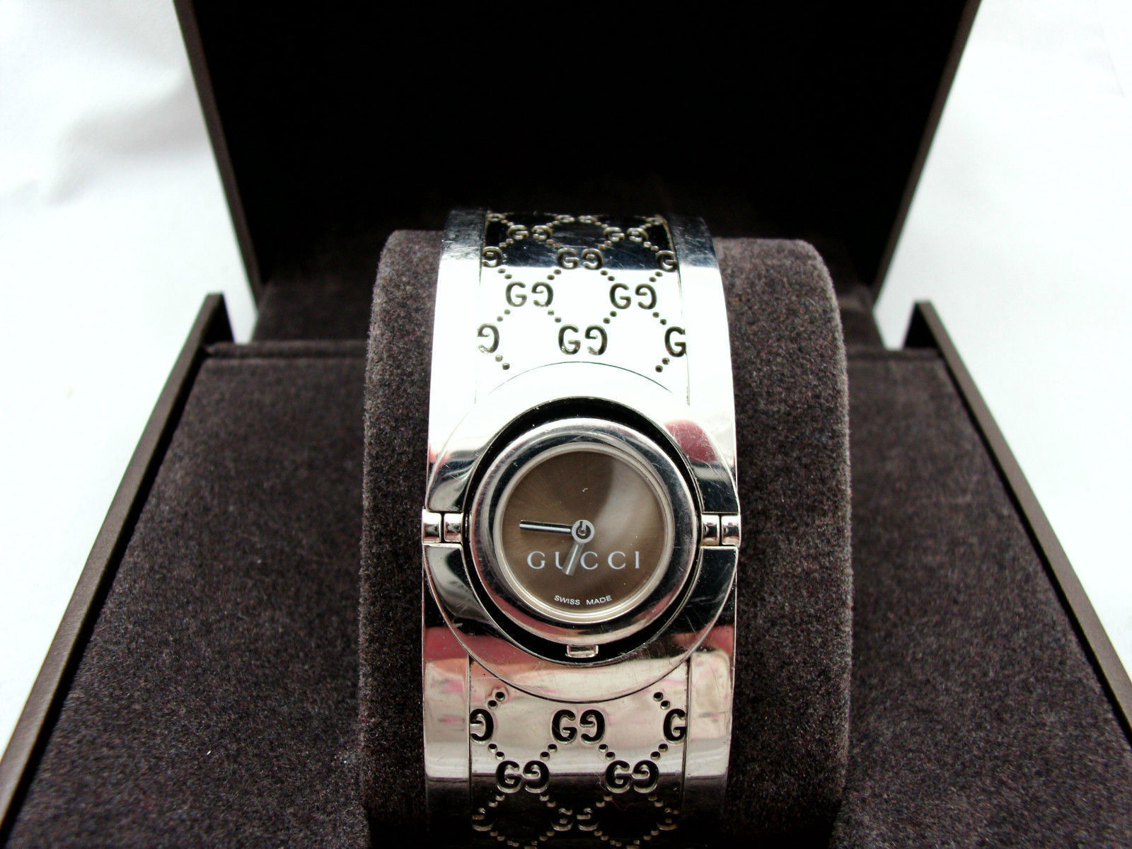 6de5f9aa98d Gucci Twirl Watch 112 Brown Guccissima and 50 similar items. S l1600