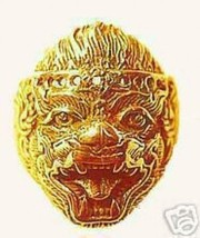 LOOK 0679 Hindu Monkey Lord Hanuman OM Gold Plated ring - $28.82