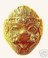 LOOK 0679 Hindu Monkey Lord Hanuman OM Gold Plated ring - $28.82