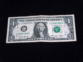 2009 $1 Bill US Bank Note 2 Dates December 6 June 12 1908 1206 1908 Fanc... - $13.78