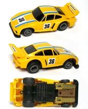 1980 Ideal TCR Porsche RARE Yellow Michelin #36 Slot Car MK3 Chassis Very Rare! - $44.54