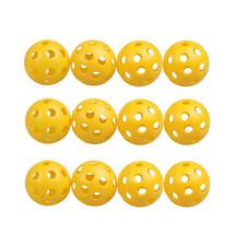 Golf Balls 12Pcs/set Plastic Whiffle Airflow Hollow Golf Practice Training Sport - $3.30