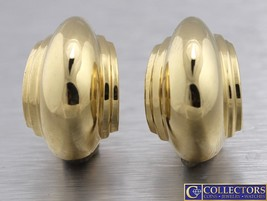 Ladies Tiffany & Co. Paloma Picasso 18K 750 Yellow Gold Shell Earrings 22x14mm - $1,593.51