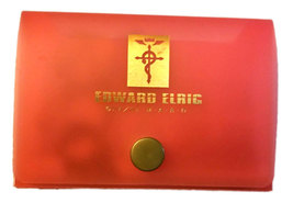 "Fullmetal Alchemist ""Edward"" Card Holder w/ 5 Sets of Art Cards * Anime - $4.88"