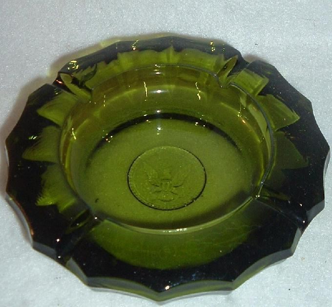 Primary image for Fostoria Coin pattern Green Glass Ashtray