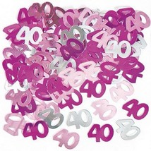 4 pk 14g 40th Pink Happy Birthday Party Glitz Table Confetti Sprinkles - $7.99