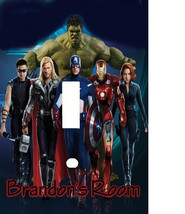 PERSONALIZED AVENGERS HEROS LIGHT SWITCH PLATE COVER - $6.75
