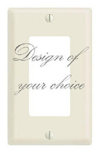 CUSTOM CHOOSE YOUR OWN DESIGN SINGLE GFI ROCKER LIGHT SWITCH PLATE COVER - £5.49 GBP