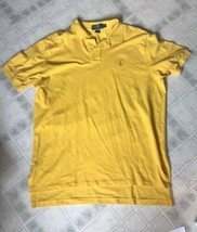 Polo Men's size XL Short Sleeve Polo Shirt Solid Goldenrod Yellow - $23.19
