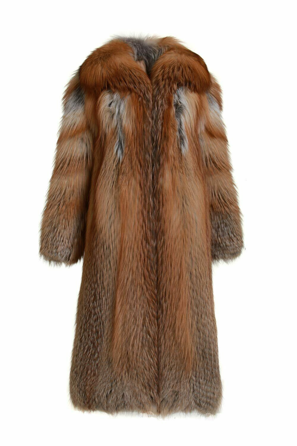 Primary image for Red Fox Fur Coat Full Length Fully Let out Shawl Collar SAGA No Reserve Price