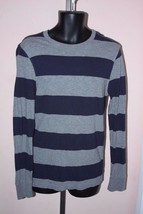Navy Blue Gray Striped Arizona Jeans Long Sleeve Shirt Men's Young Men's S - $4.99