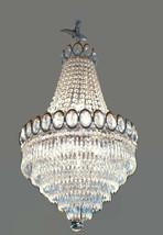 Vintage Chandelier Crystal Silver & Gold Overtone English Rose Design - $2,999.99