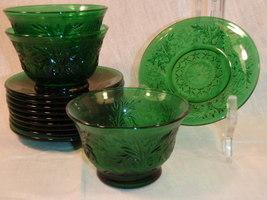 Forest Green Sandwich Glass  - $40.00