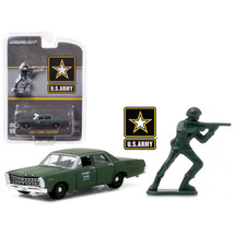 1967 Ford Custom U.S. Army with U.S. Army Soldier Figure 1/64 Diecast Model Car  - $13.59