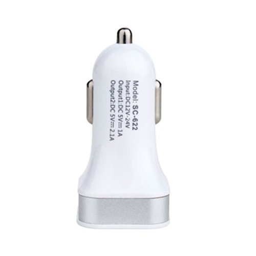 2.4Amps / 12W Dual USB Car charger Designed for Apple & Android & MP3 Devices