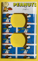 Peanuts Snoopy US Stamps Light Switch Power Outlet wall Cover Plate Home Decor image 2