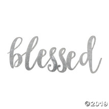 Large Galvanized Metal Blessed Cutout - $18.50