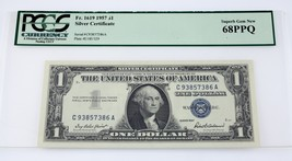 1957-G $1 Silver Certificate Graded by PCGS Currency as 68PPQ Fr. 1919 - $102.46