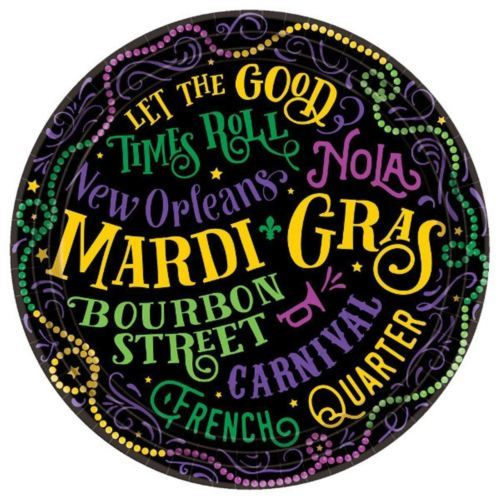 "Let The Good Times Roll! Mardi Gras 60 Ct 9"" Lunch Plates Value Pack"