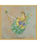 """ARACHNE, THEKNITTING FAIRY"" COMPLETE XSTITCH MATERIALS  - $59.39"