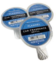 3 Bath & Body Works Scentportable FLANNEL Fragrance Refills .2 oz NEW Fast Ship - $14.74