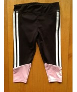 Toddler's 12 Month  Adidas Pink and Black Track Sweat Pants  - $14.83