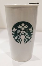 2014 Starbucks Siren Mermaid 12 Ounce Travel Mug White and Green - $14.73