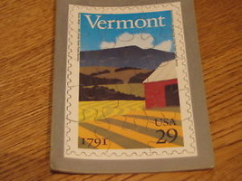 Vermont 1791 .29 USPS puzzle stamp commemorative 1991 - $3.55
