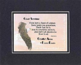 [Motivational Sayings] - Goals Setting . . . 8 x 10 Inches Sayings set in Dou... - $10.95