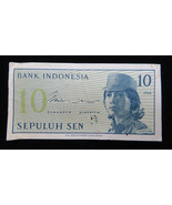 1964 INDONESIA BANK INDONESIA 10 SEN BANKNOTE PAPER MONEY - $10.00