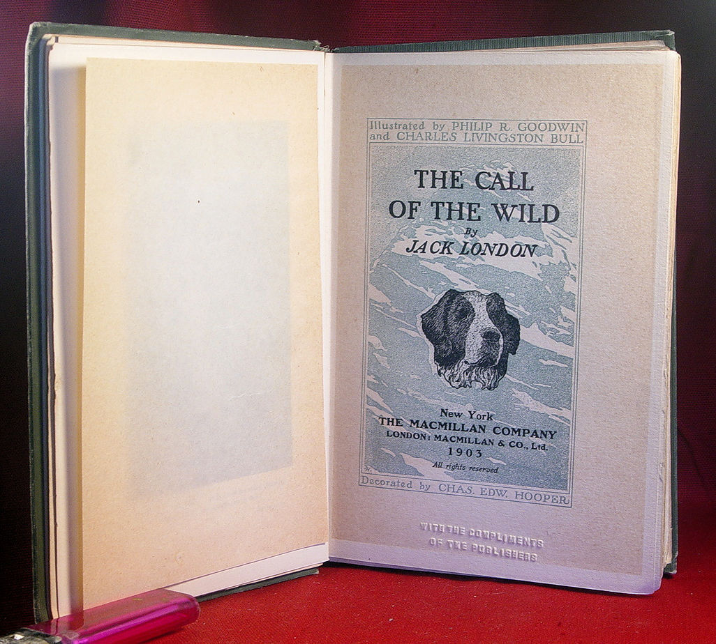 Jack London THE CALL OF THE WILD - 1903 review copy  1st edition