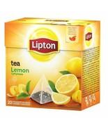 Lipton Black Tea: LEMON tea -1 box/ 20 tea bags -FREE SHIPPING - $7.91