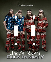 PERSONALIZED DUCK DYNASTY DUCK NATION AMERICAN FLAG THEME DOUBLE SWITCH ... - $7.25