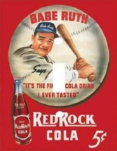 BABE RUTH VINTAGE CLASSIC RED ROCK COLA LIGHT SWITCH PLATE COVER - $6.25