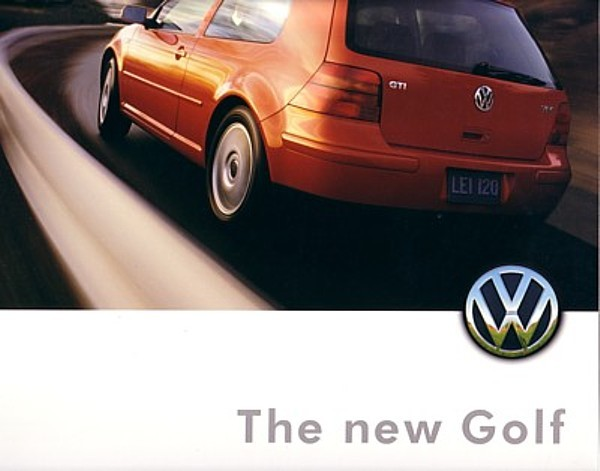 1999 Volkswagen GOLF sales brochure catalog US 99 VW GTI VR6