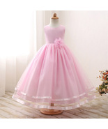 Cute Baby Pink Tulle  Party Wear Gown for Girls - $52.99+
