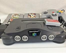 N64 Nintendo 64 Lot Bundle Console 1 OEM Controller 4 Games  - $84.00