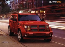2007 Dodge NITRO sales brochure catalog 07 SLT R/T - $6.00