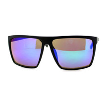KUSH Sunglasses Matte Black Square Frame Multicolor Mirror Lens Unisex - $9.95