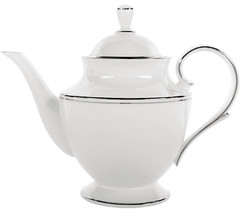 Lenox Federal Platinum Teapot 40 oz. Classics Made in USA New - $169.90