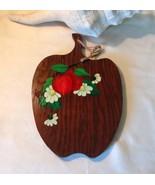 Vintage Apple Shaped wood Cutting board decor - $15.00