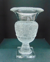 Lalique Versailles Clear Frosted Urn signed Crystal Vase - $5,600.00
