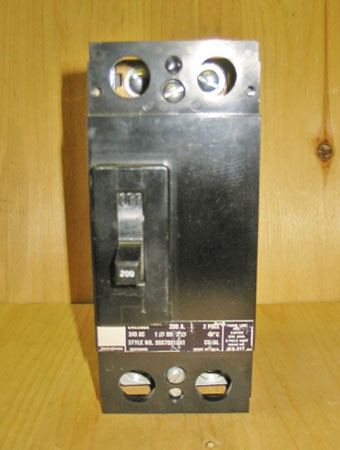 westinghouse ca2200x 200 amp 2 pole circuit breaker ... outside breaker fuse box