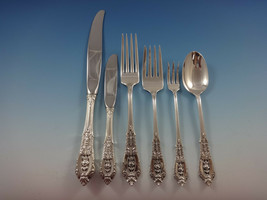 Rose Point by Wallace Sterling Silver Flatware Set For 8 Service 57 Pieces - $2,850.00