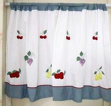 PANDA SUPERSTORE Set of 2 Cotton Fabric Door Curtains Patchwork Fruit Valances