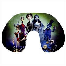 Travel neck pillow inflatable corpse bride gothic - $20.00